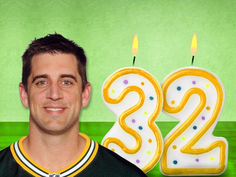 Aaron Rodgers 32nd birthday timeline
