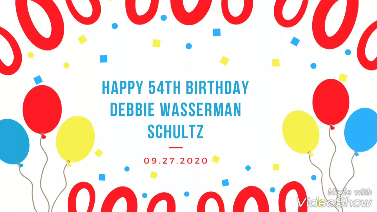 Debbie Wasserman Schultz 54th birthday