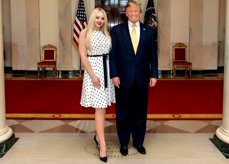Donald Trump with his daughter Tiffany Trump
