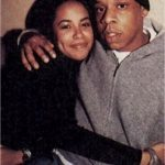 Aliyah and Jay Z cuddling back in time