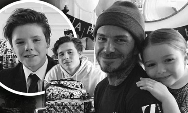David Beckham 42nd birthday timeline