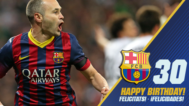 Andres Iniesta 30th birthday timeline