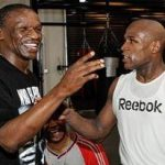 Floyd Mayweather with his father