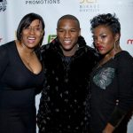 Mayweather with his sisters Deltricia and Fannie Orr