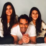 Arjun Rampal With His Daughters