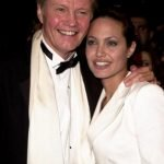 Angelina Jolie with her father