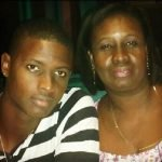 Jason Holder with his mother